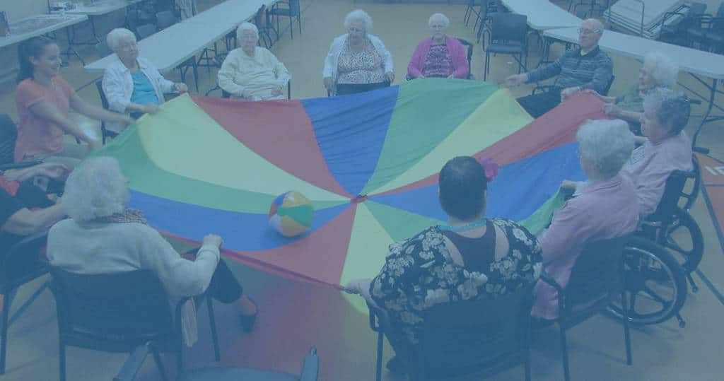 photo of a group of residents participating in physical activity