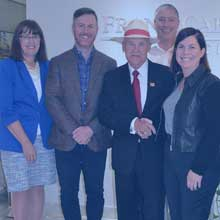 photo of ceo linda tracey, neil carroll, hec clouthier, glenn casey and laura carroll